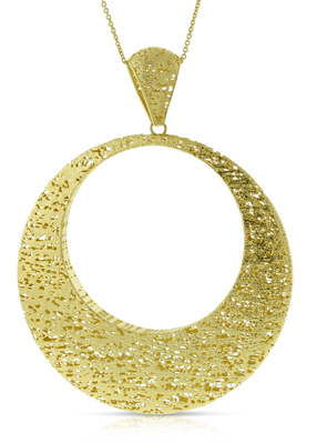 Close-up of Toscano Circle Pendant