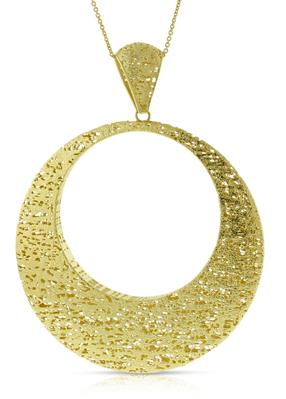 Close-up of Toscano Circle Pendant