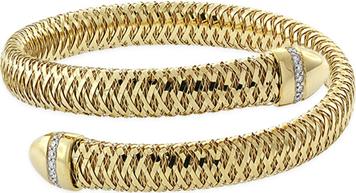 Close-up of Roberto Coin Primavera Diamond Wrap Bracelet