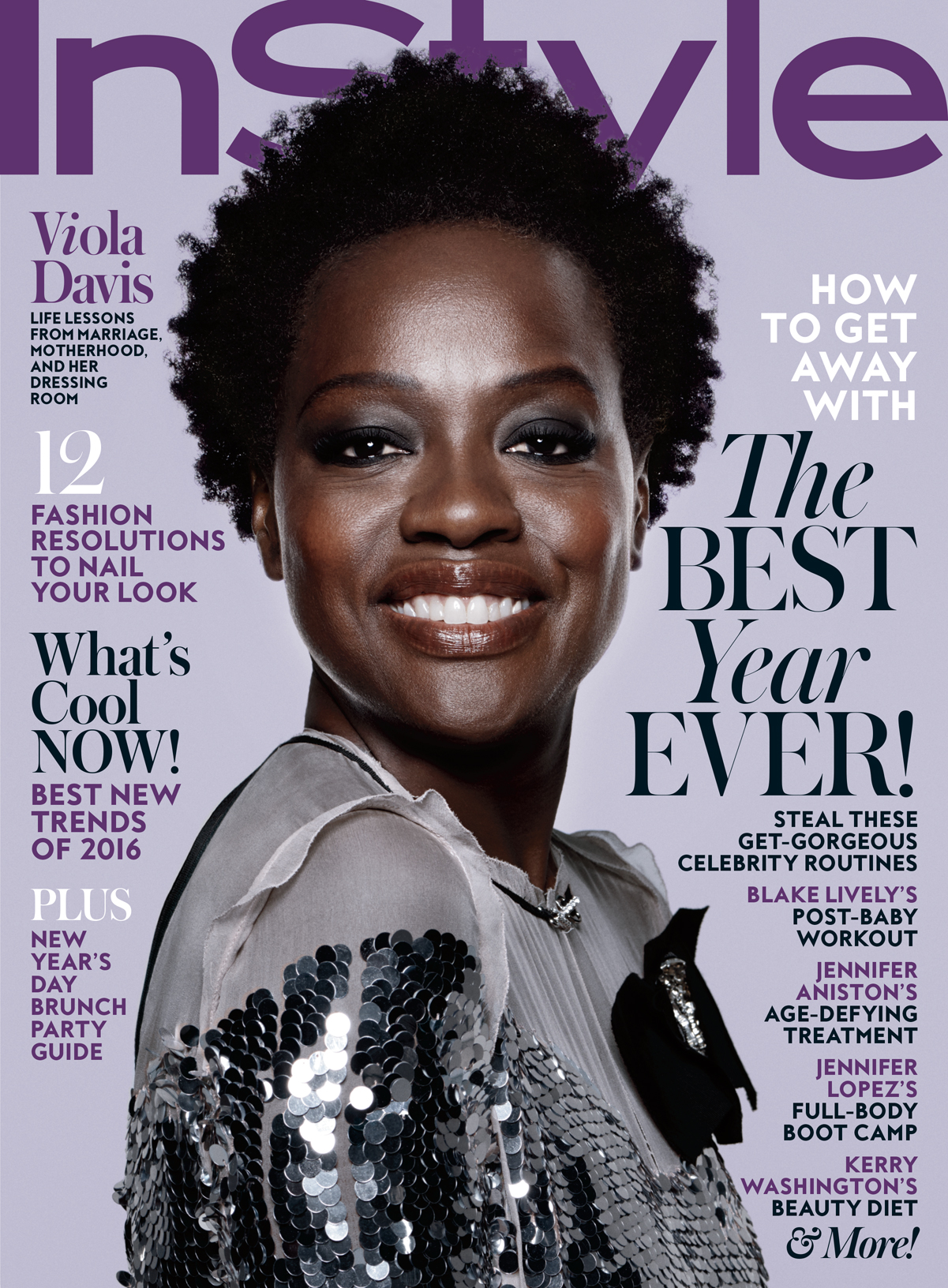 Viola Davis Is InStyles January 2016 Cover Girl InStylecom